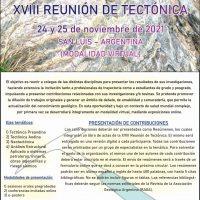 Flyer primera Circular XVIII Reunion de Tectónica